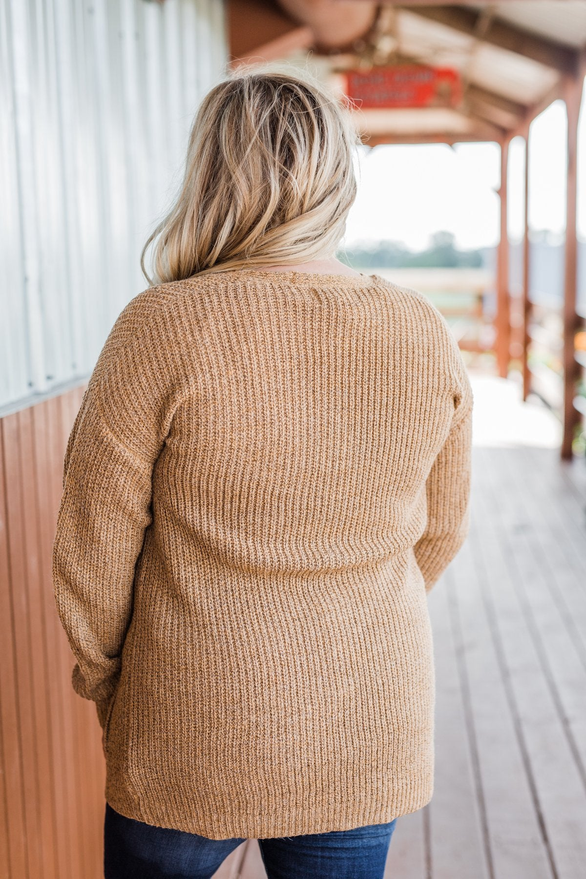 Making Memories Knit Cardigan- Camel
