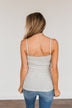 Pulse Basics Lace Trimmed Tank Top- Heather Grey