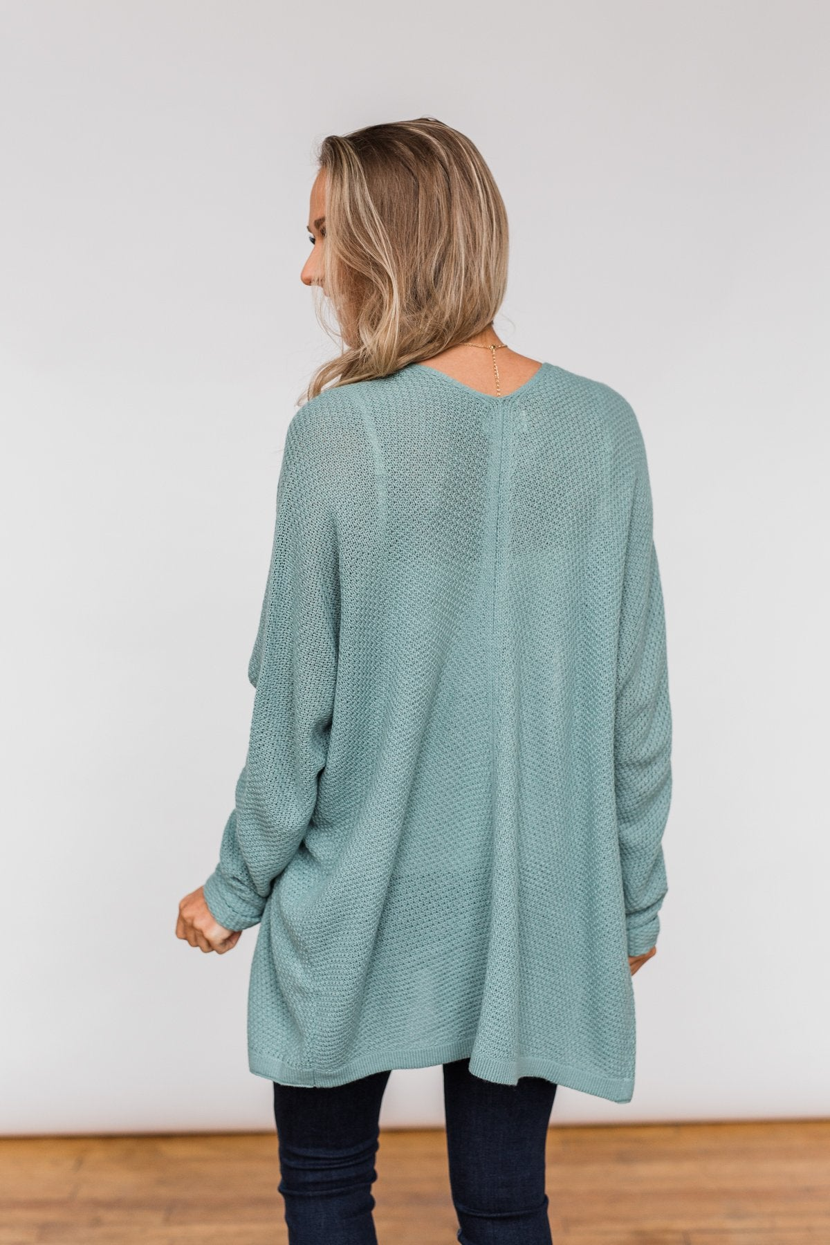 Sweet Serenity Knitted Cardigan- Slate Blue