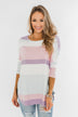 Sweet Thing Striped Dolman Top- Pastels