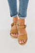 Very G Glossy Platform Sandals- Nude