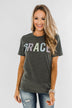 """Grace"" Graphic Tee- Charcoal"