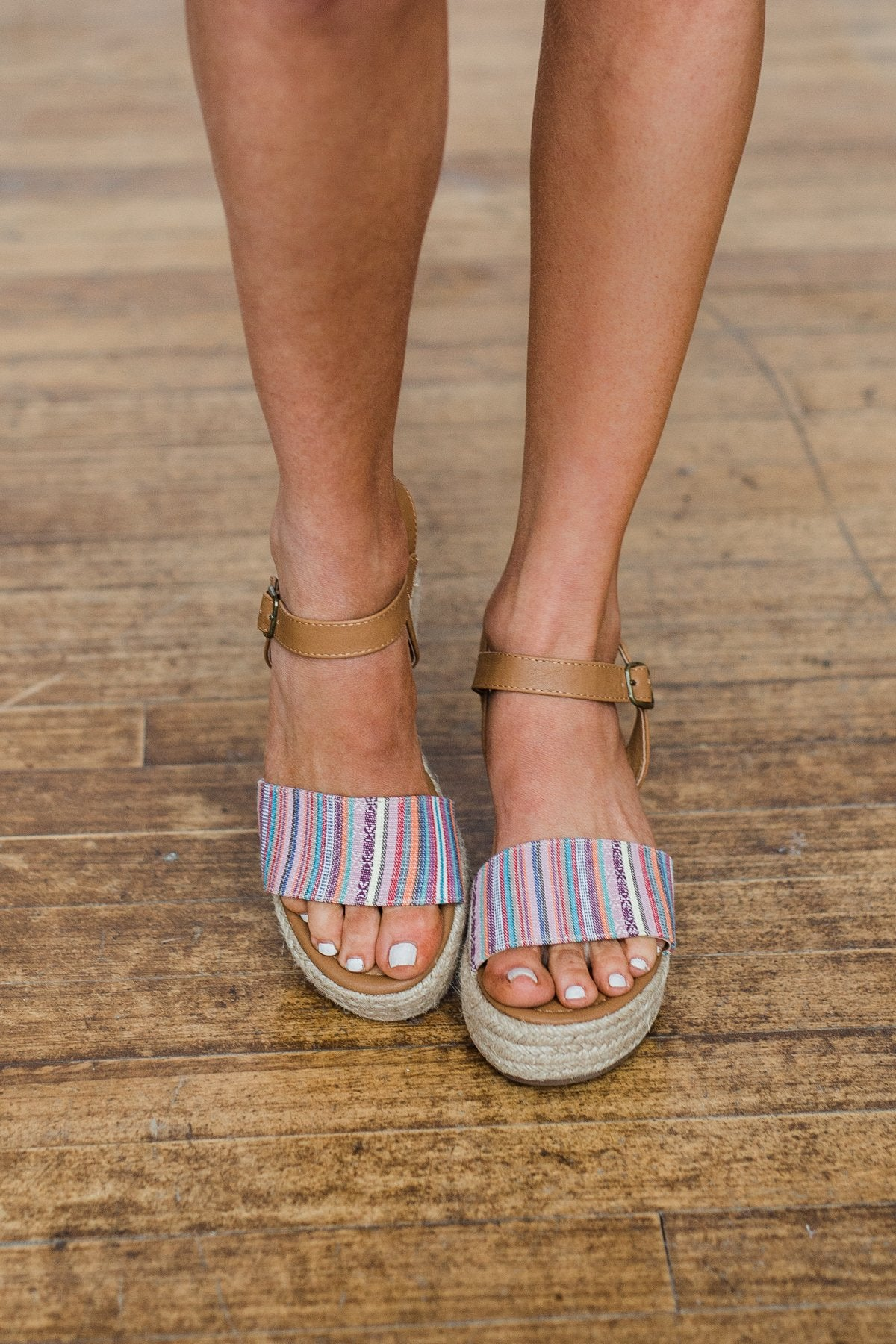 Sugar Koko Wedges- Multi Stripe