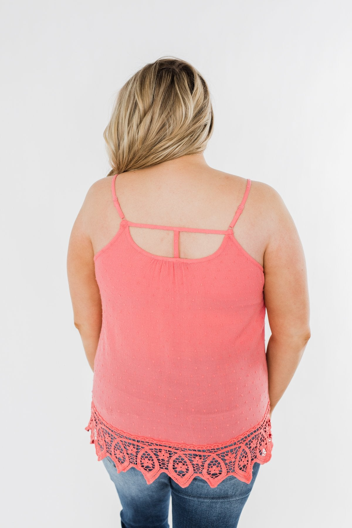Calling My Name Crochet Tank Top- Coral