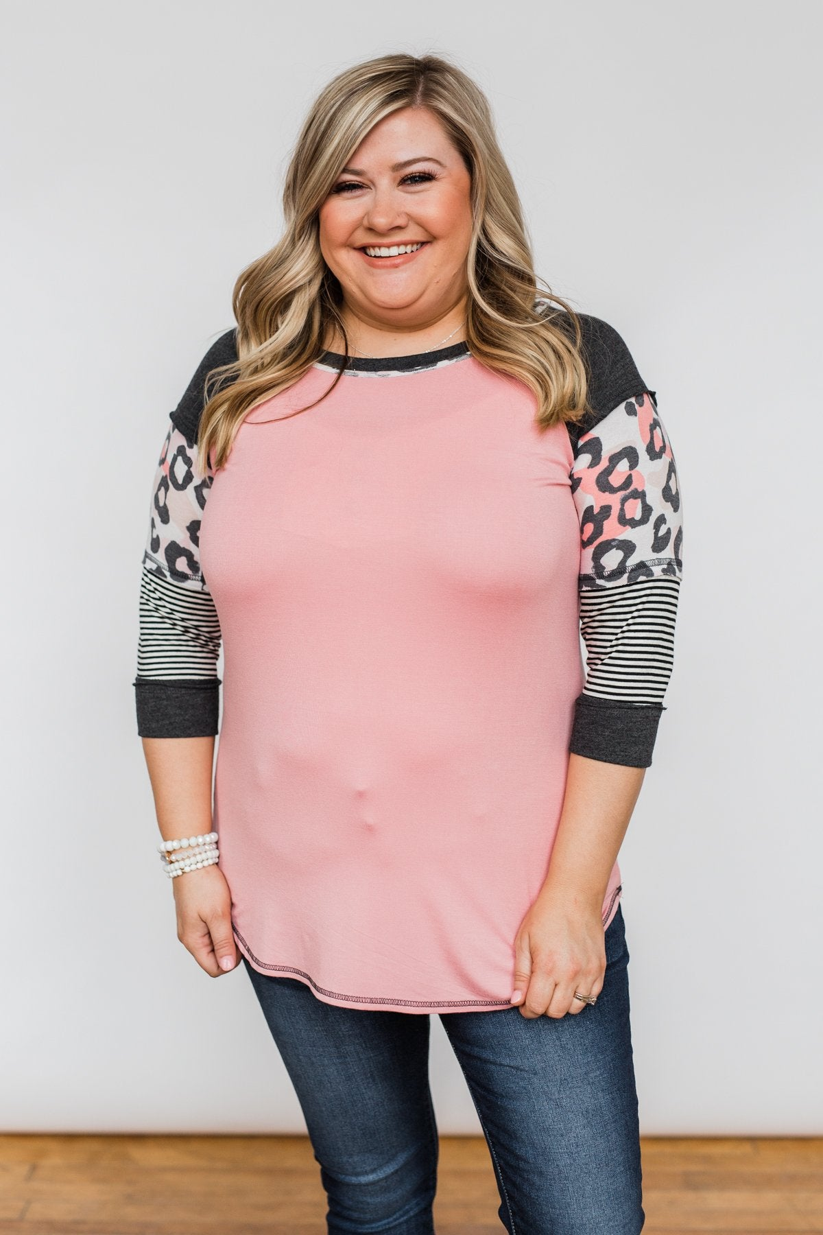 Ready For An Adventure Detail Top- Pink