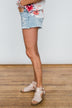 KanCan Distressed Shorts- Stacey Wash