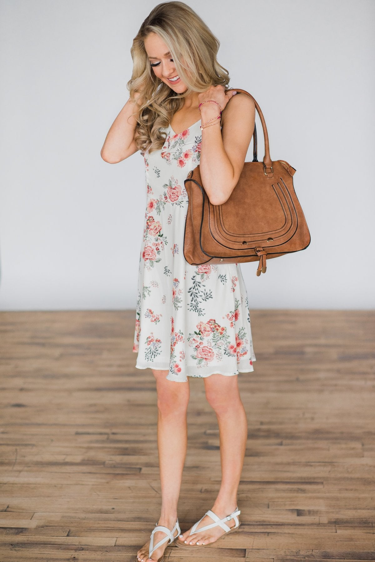 You Make Me Smile Floral Dress