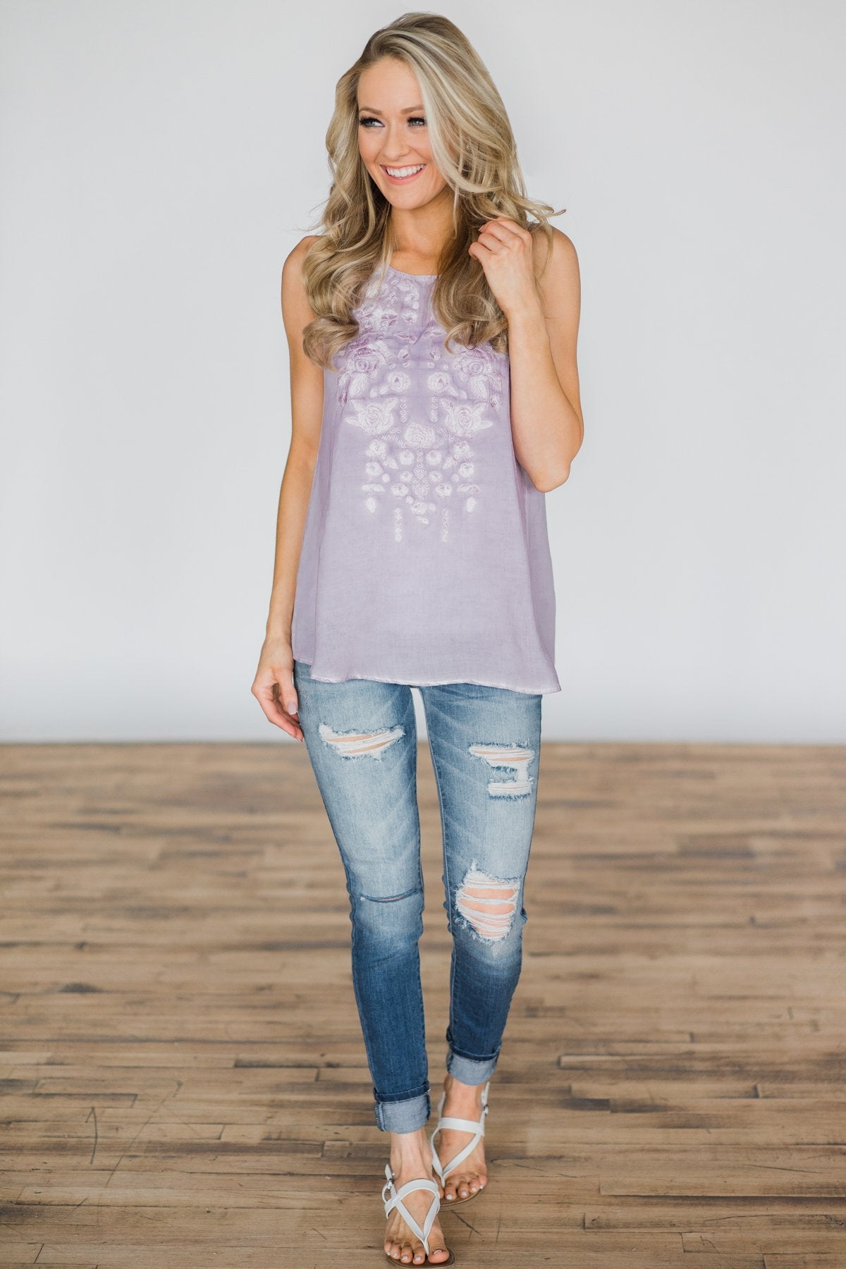 This Could Be It Tank Top- Lavender