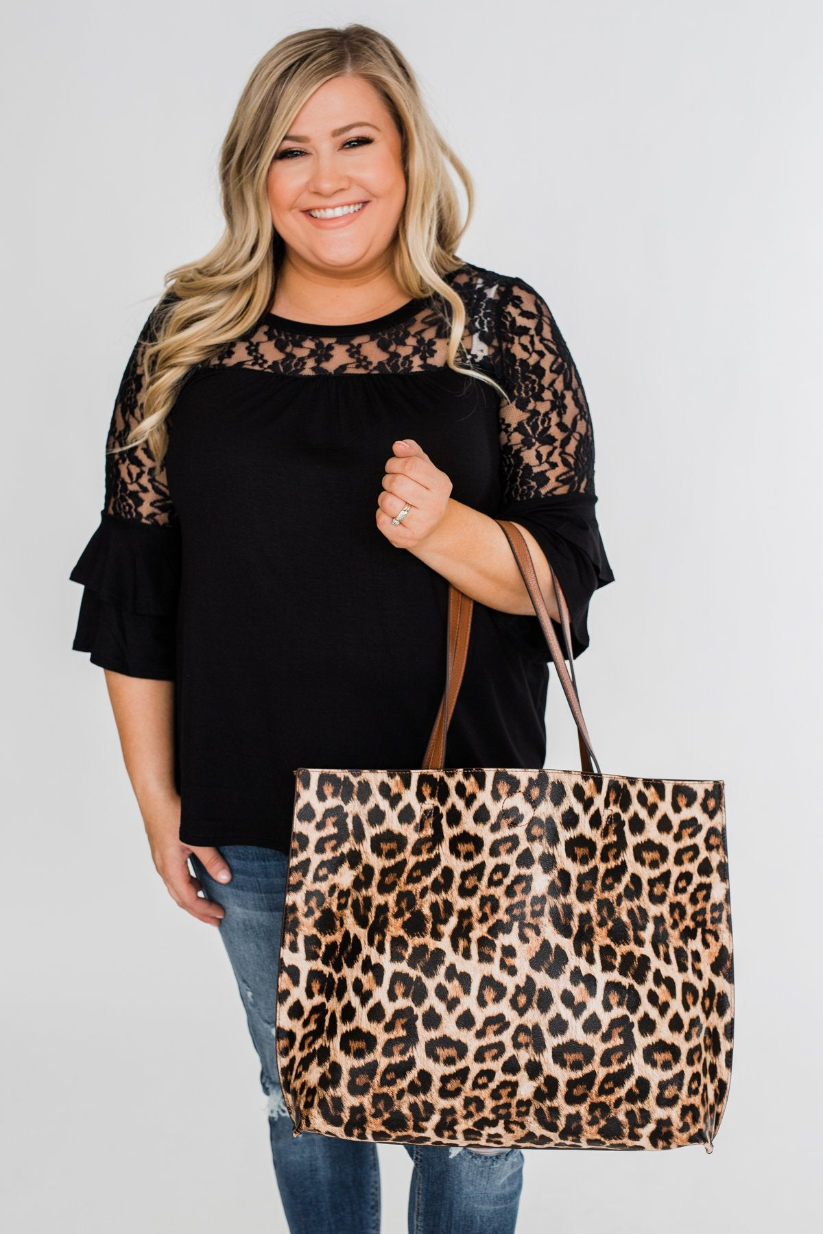 Carry-All Reversible Tote- Leopard Print & Brown