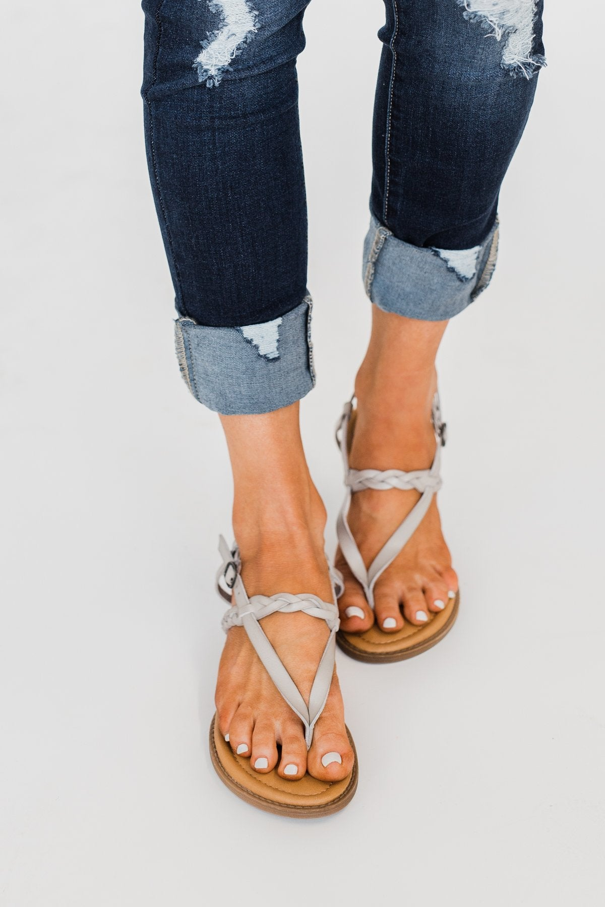 Blowfish Berg-B Sandals- Stone Grey
