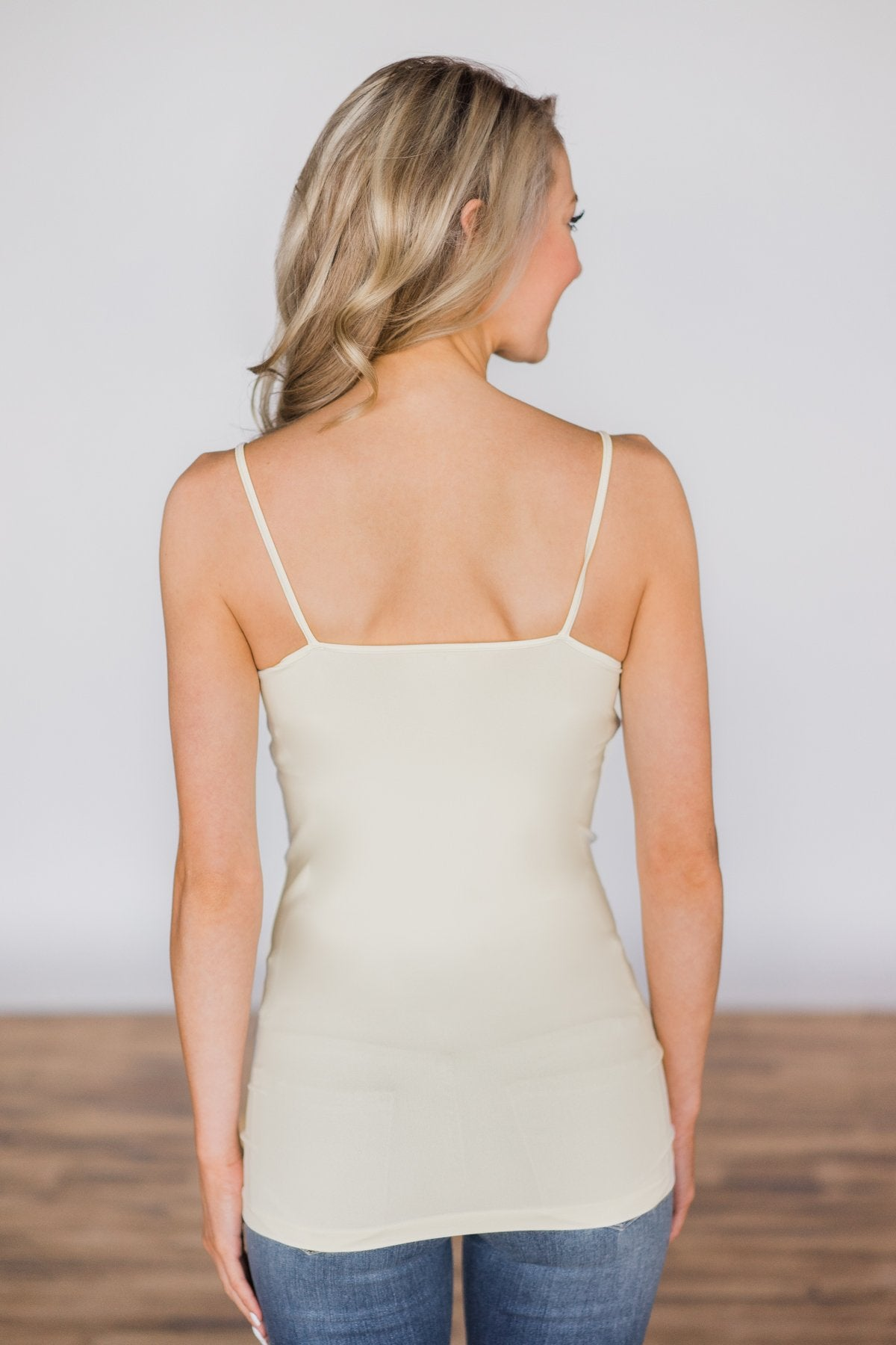 Cream Seamless Layering Tank