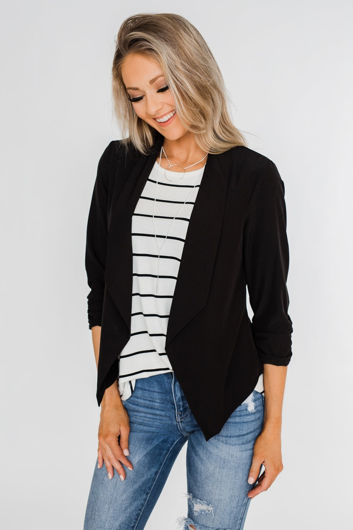 Keep It Professional Blazer- Black