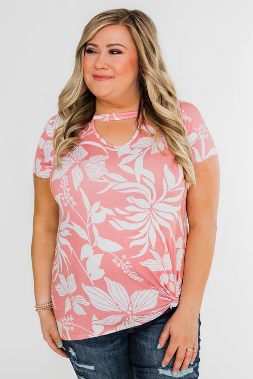 Tropical Adventure Knot Top- Pink