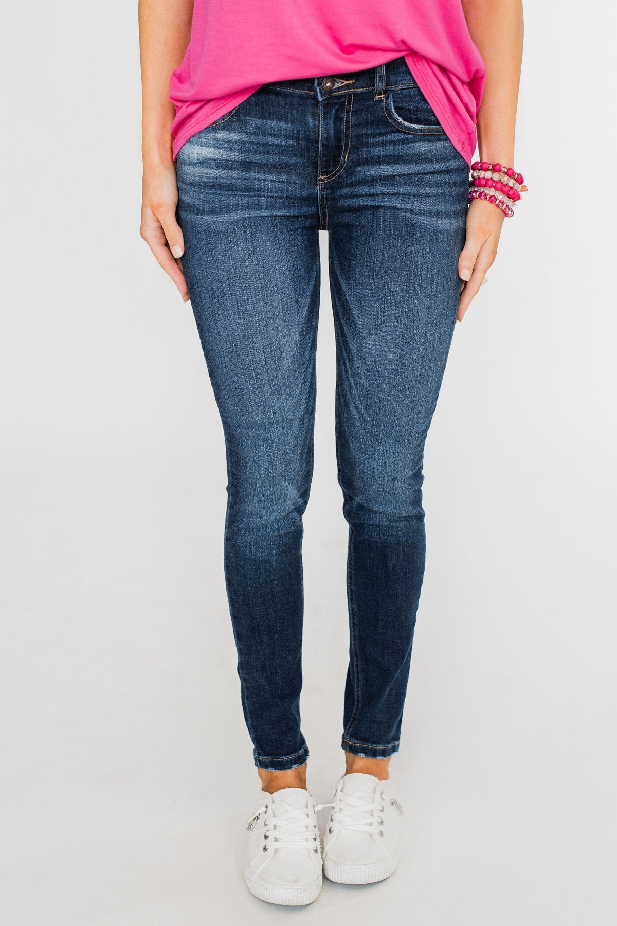 KanCan Distressed Skinny Jeans- Tiffany Wash