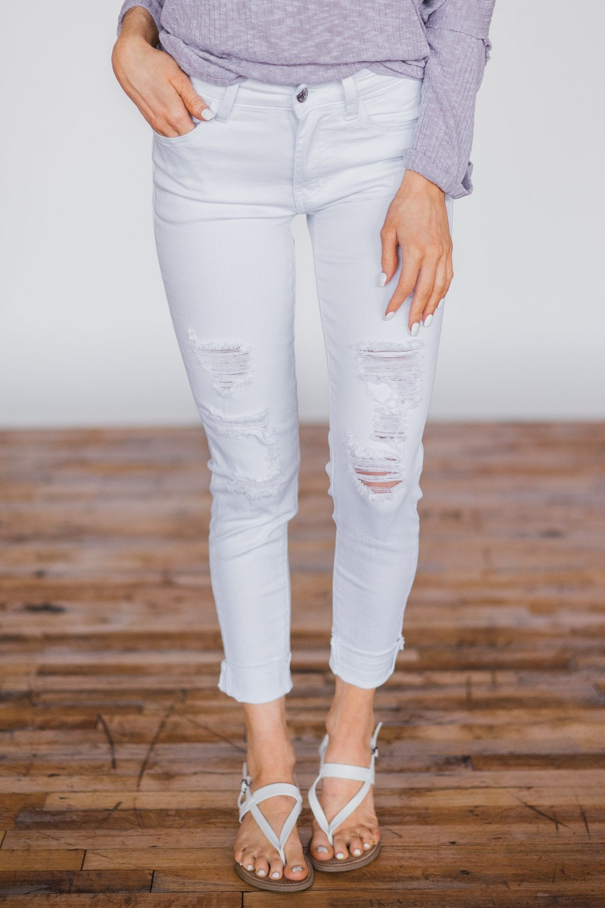 KanCan - White Distressed Denim Jeans
