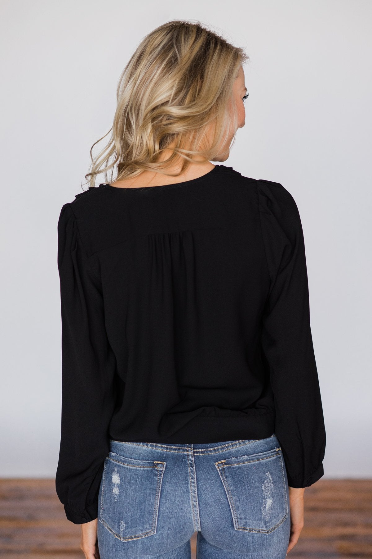 Fun For Tonight Black Long Sleeve Top