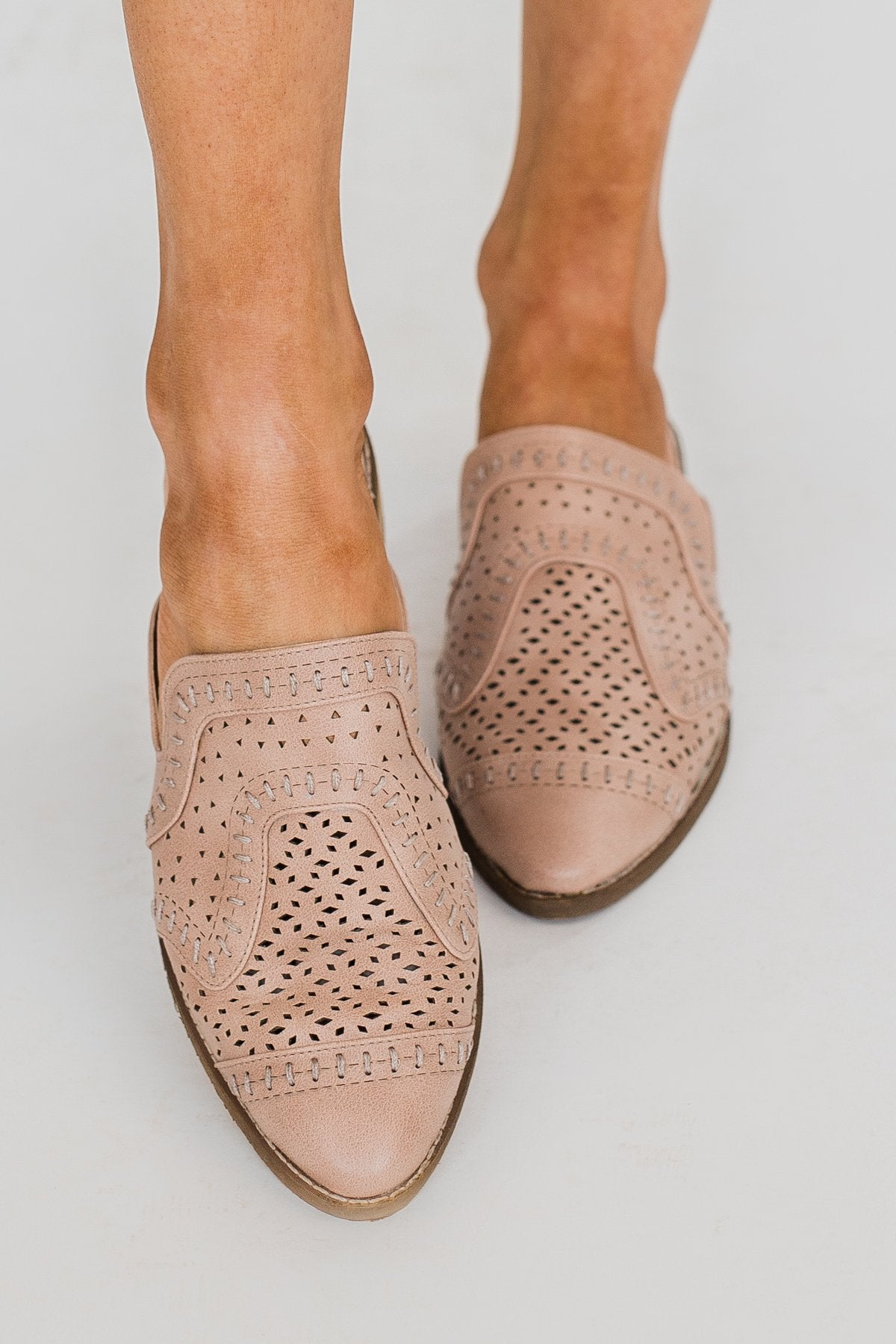 Not Rated Piyal Mules- Blush