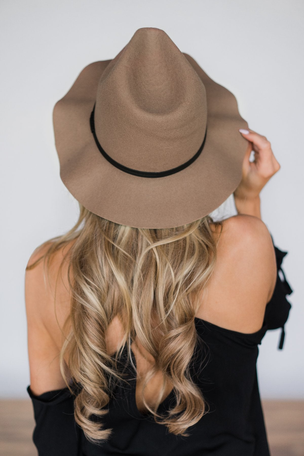 Floppy Brimmed Felt Fedora ~ Brown