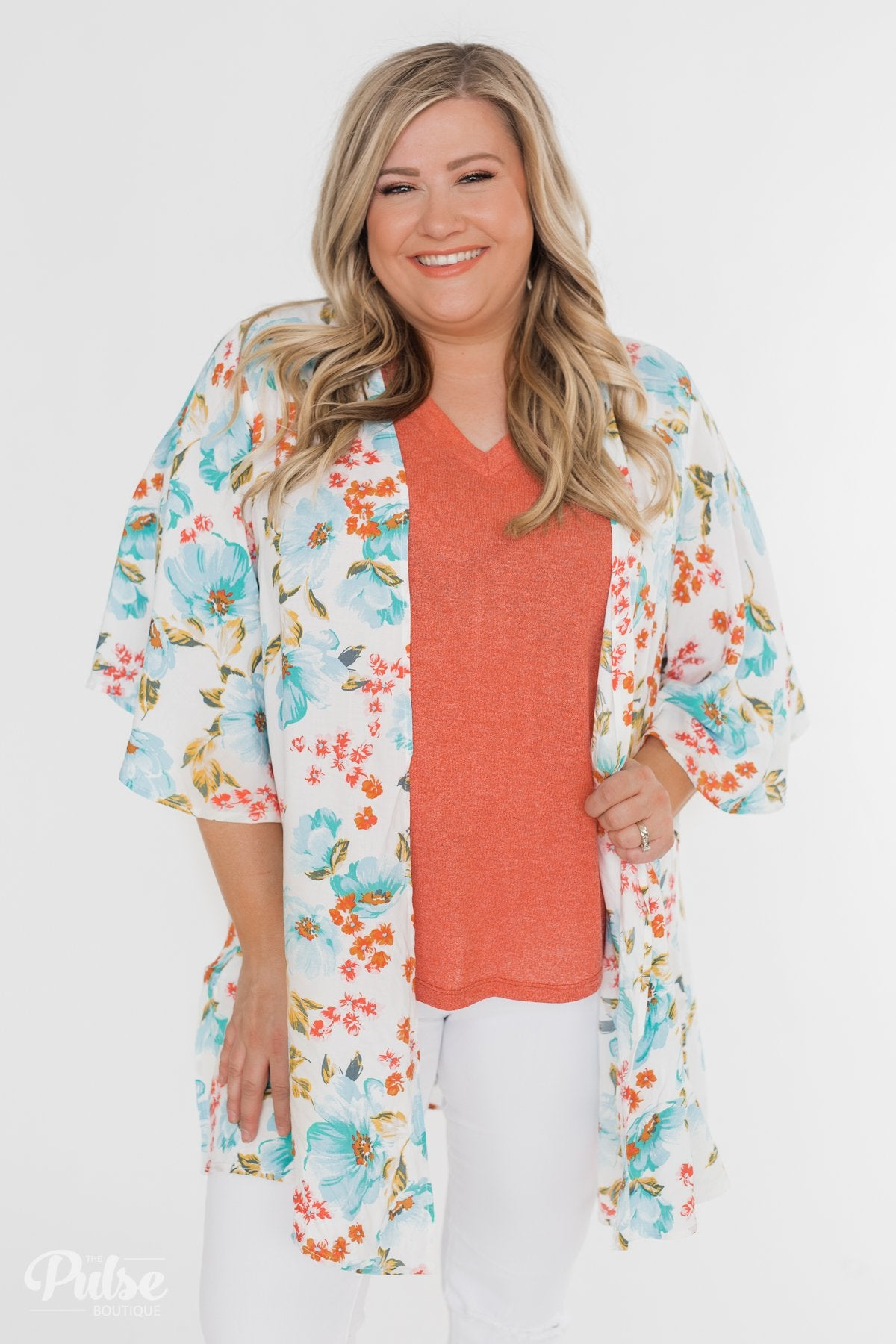 Sunshine In My Soul Floral Kimono- Ivory