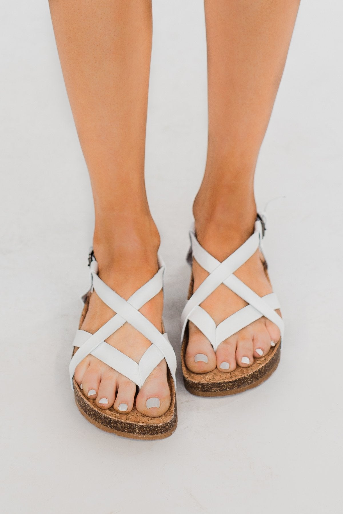 Sugar Ellexa Sandals- White Smooth