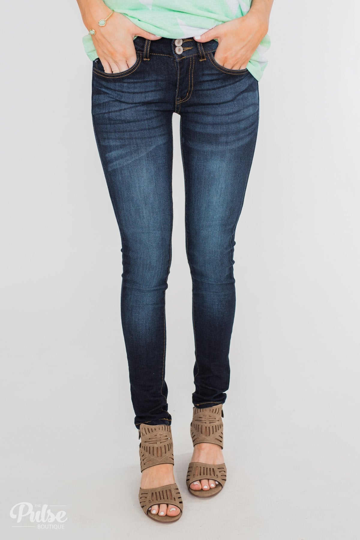 KanCan Non-Distressed Jeans- Alicia Wash