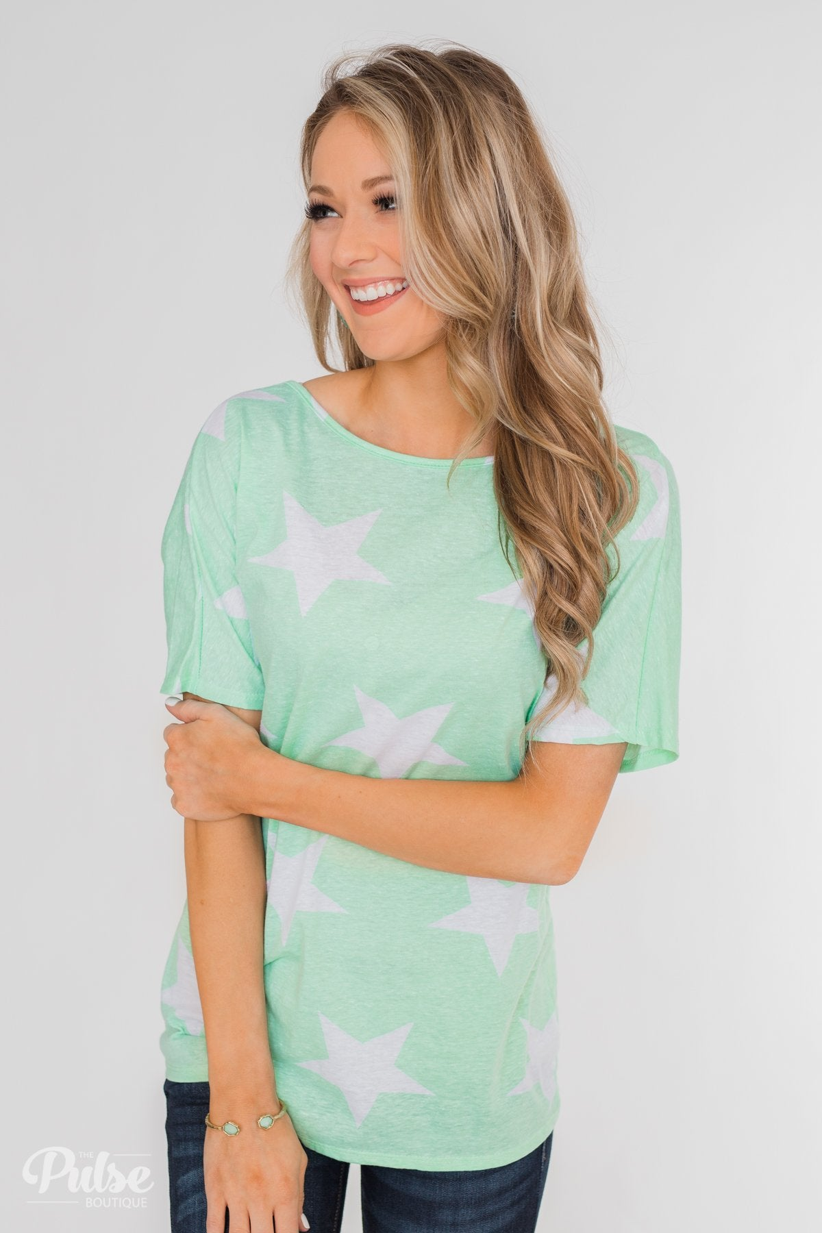 My Wish Tonight Open Back Twisted Knot Top- Mint