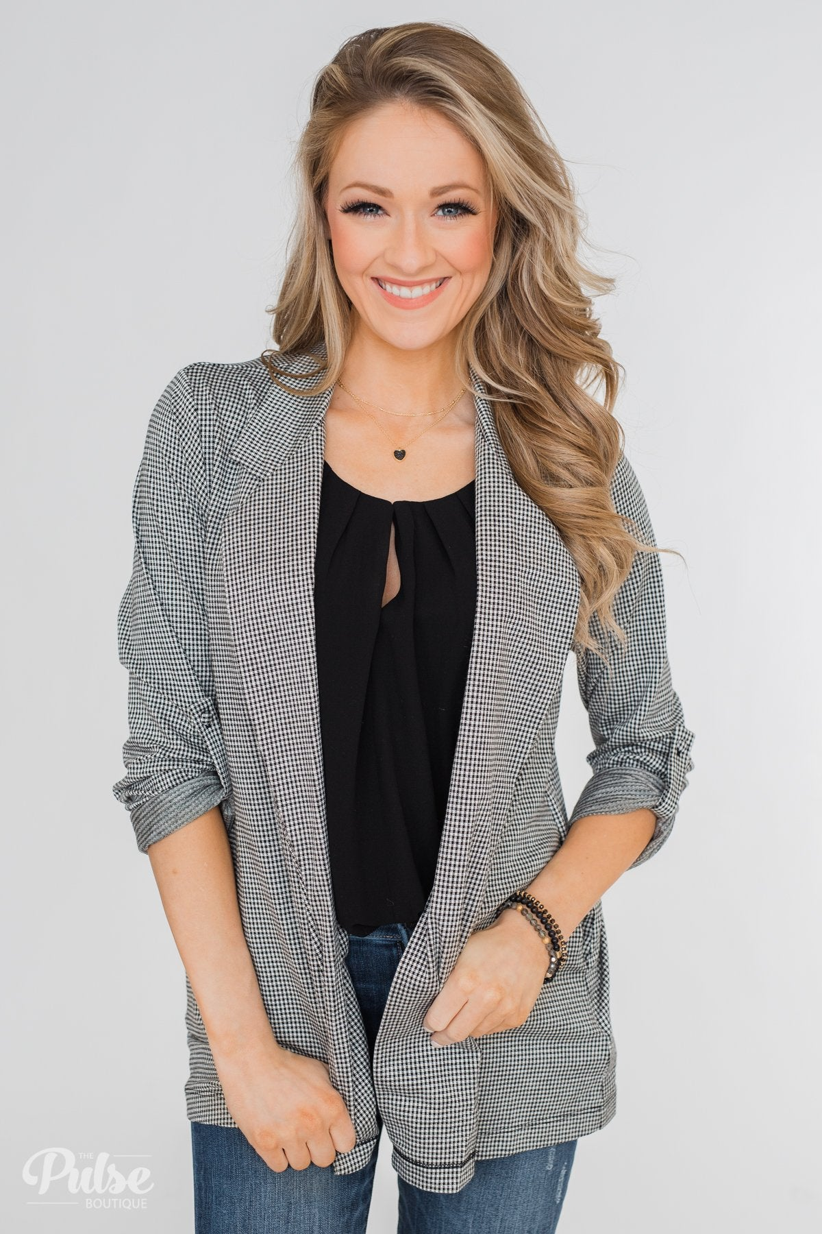Back to Business Long Sleeve Blazer- Black