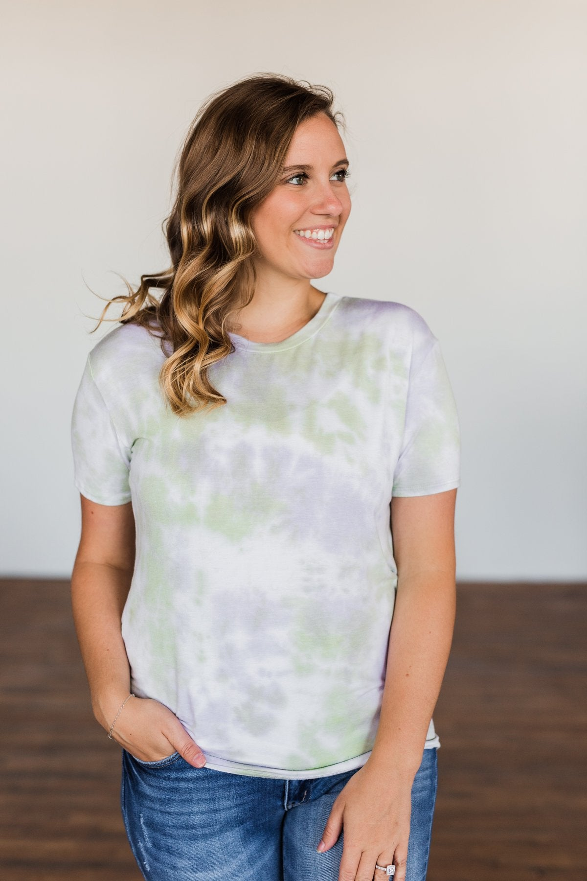 You Are My Only Tie Dye Top- Lavender, Green, & Ivory