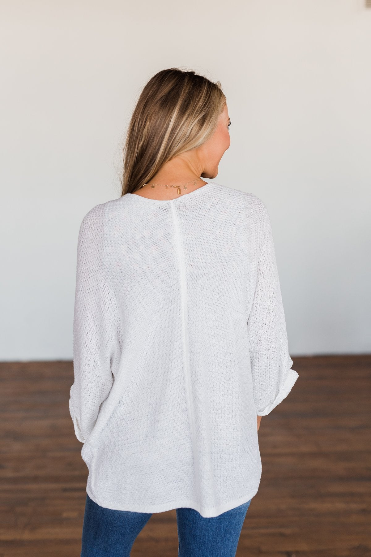 Forever On My Mind Knit Cardigan- Off White