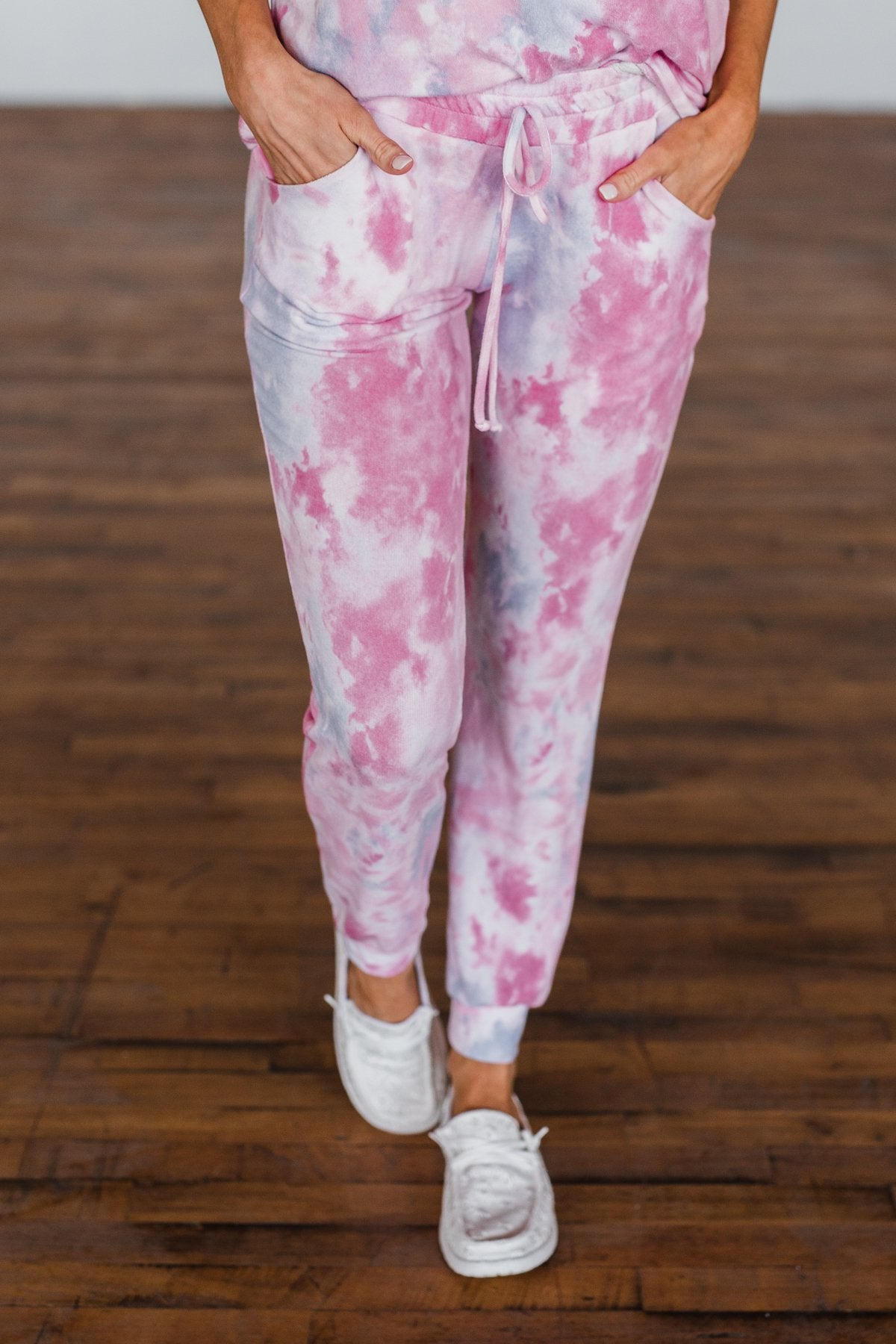 Feels Like Sunday Pink Tie Dye Lounge Pants
