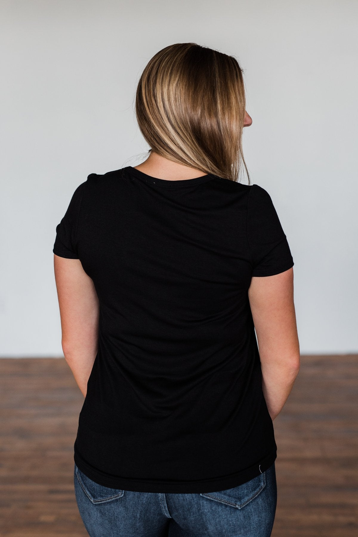 This Is Me Notch Pocket Top- Black