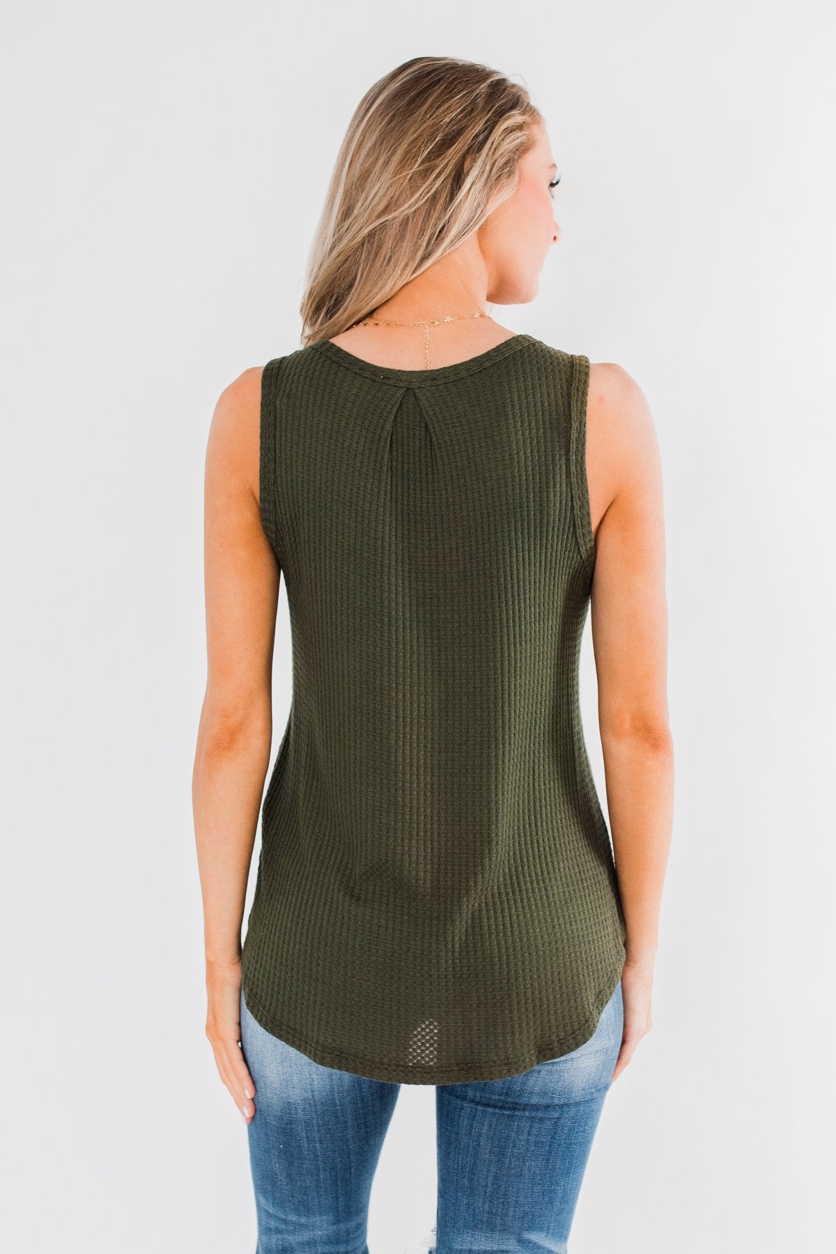 Wouldn't Trade It For Anything Tank Top- Dark Olive