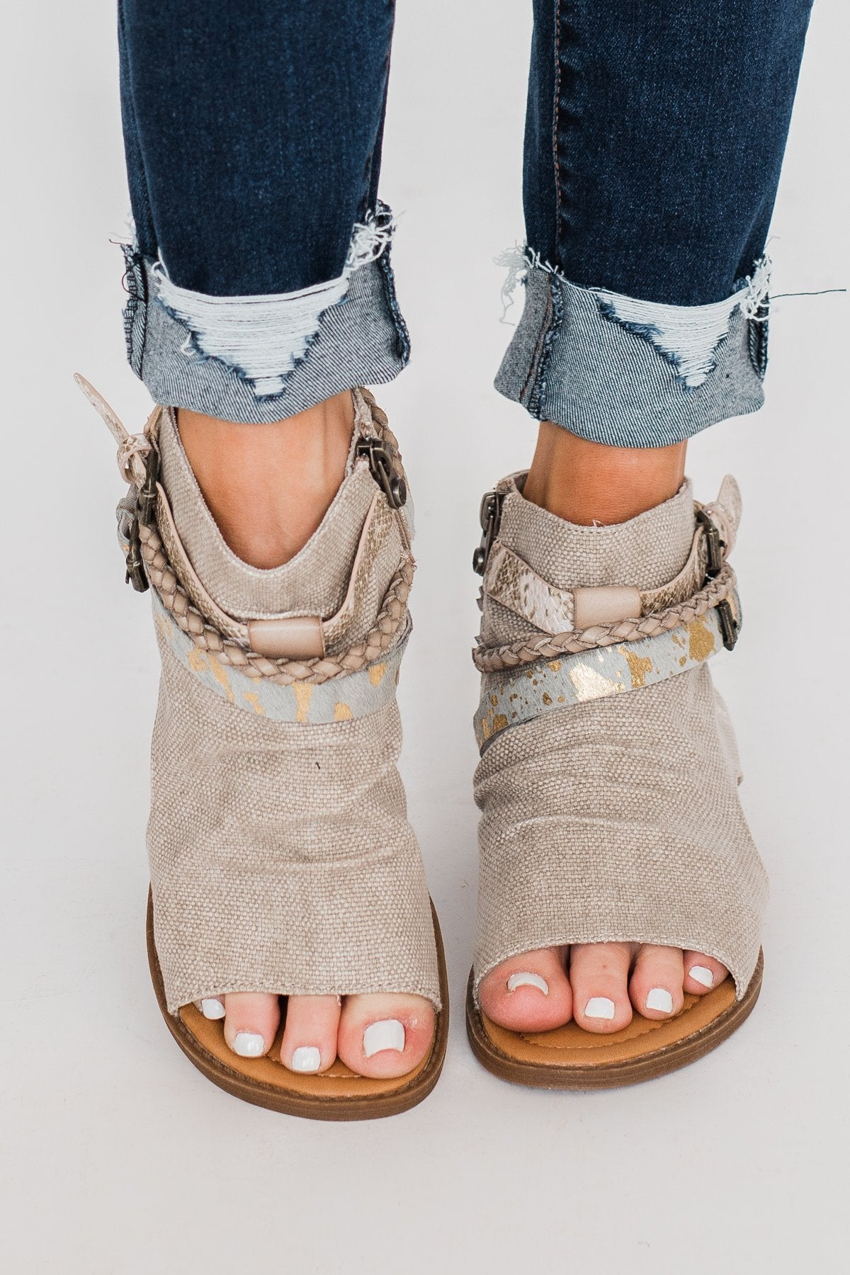 Blowfish Babie Sandals- Light Taupe