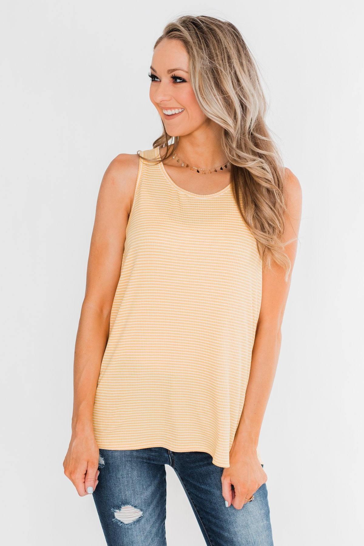 Rays Of Sunshine Tank Top- Yellow