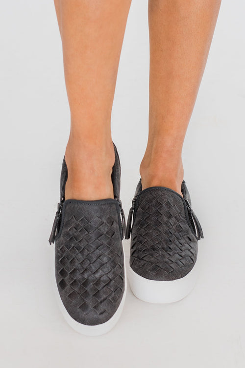 Not Rated Tiffani Sneakers- Charcoal