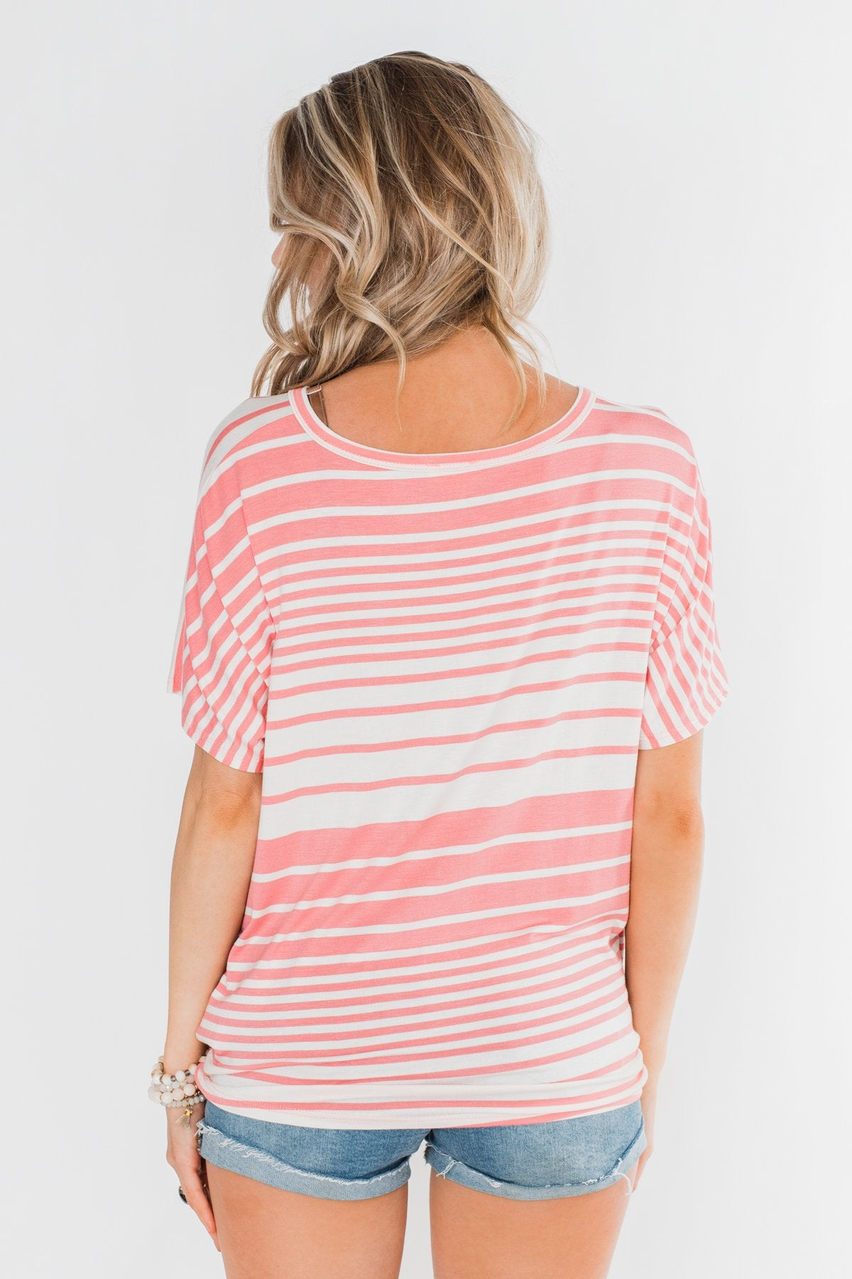 My Best Life Short Sleeve Dolman Top- Pink