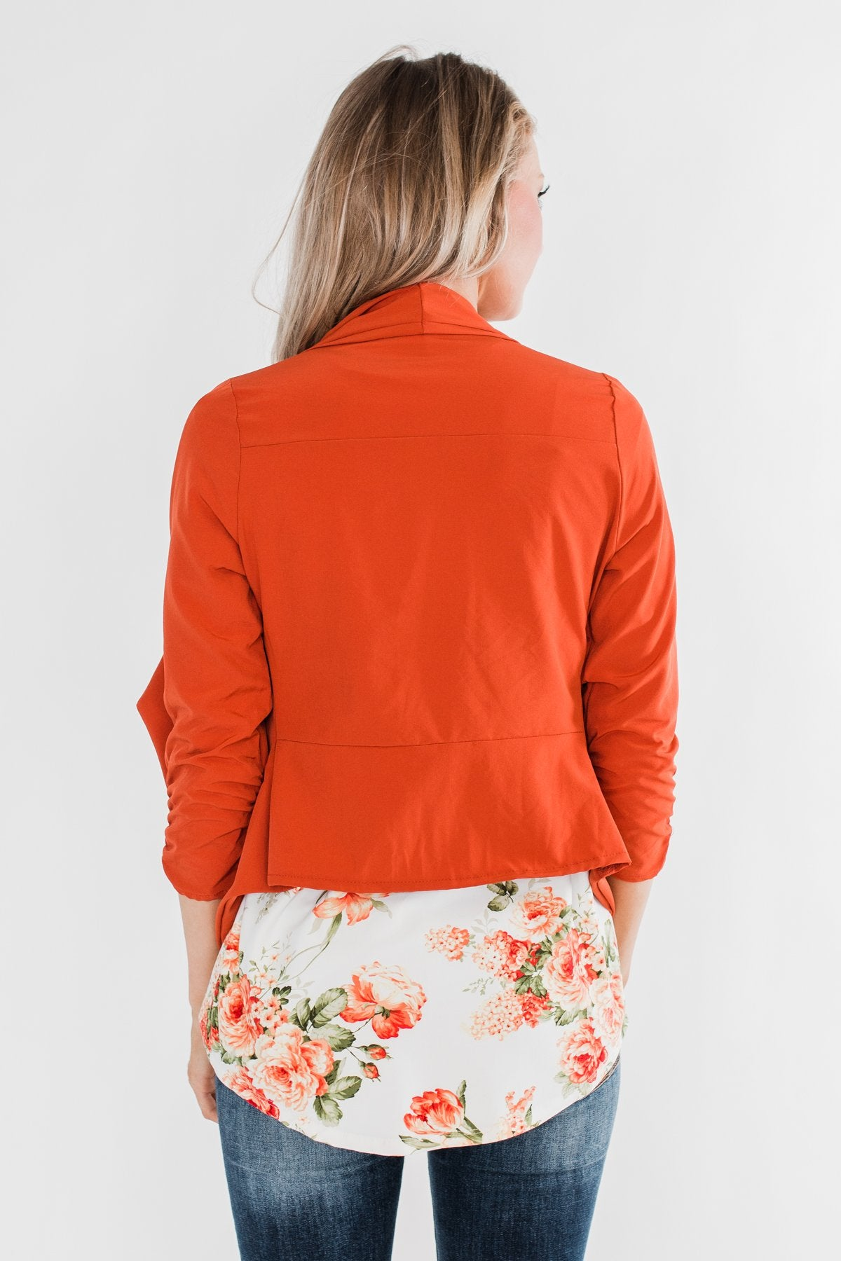 Pretty & Professional Blazer- Burnt Orange