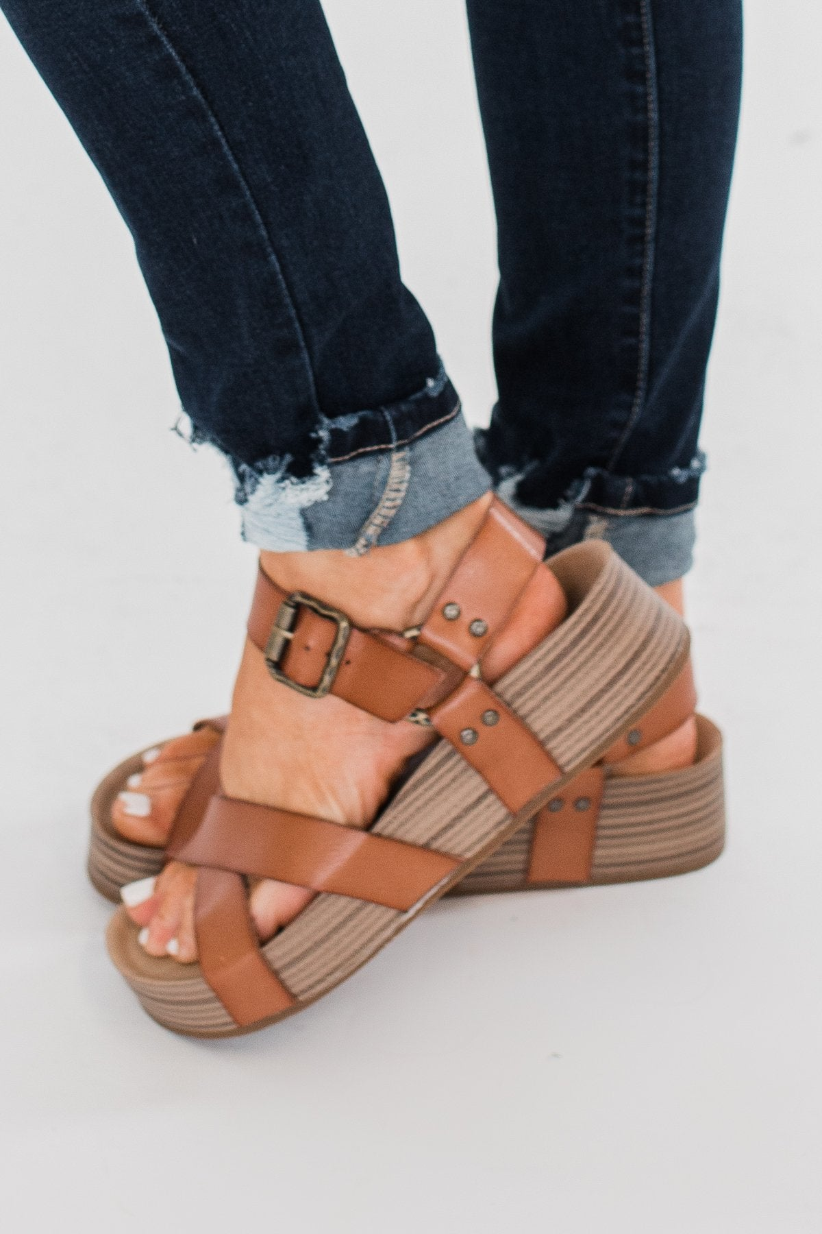 Blowfish Makara Platform Sandals- Arabian Sand