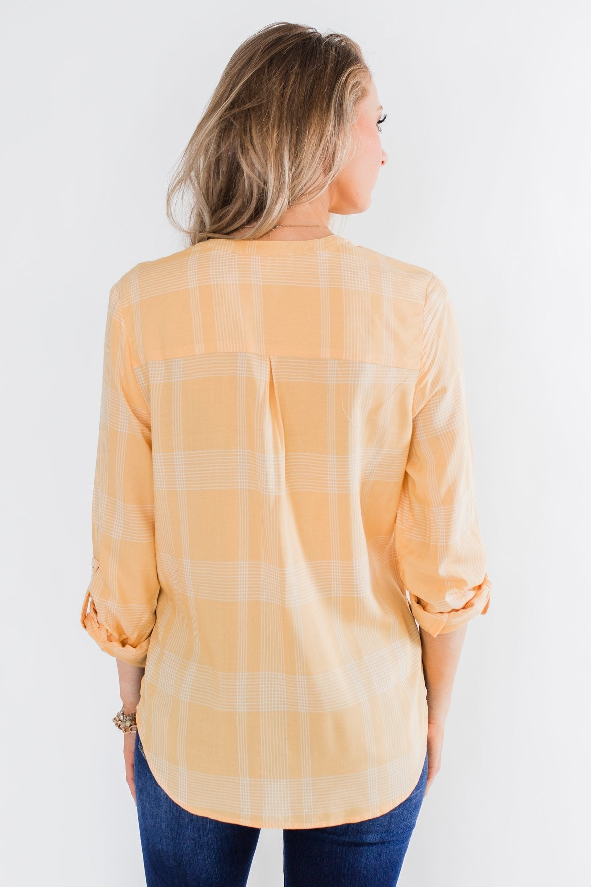 A Day In The Sun Light Flannel Blouse- Yellow