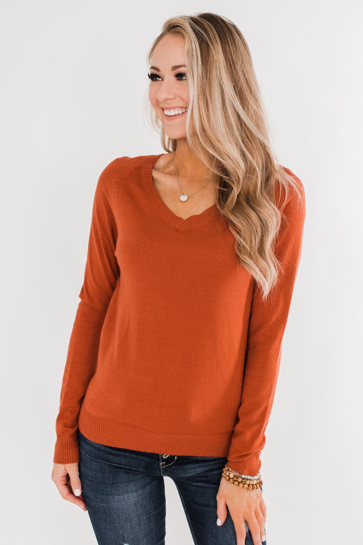 Never Felt This Way Sweater- Copper