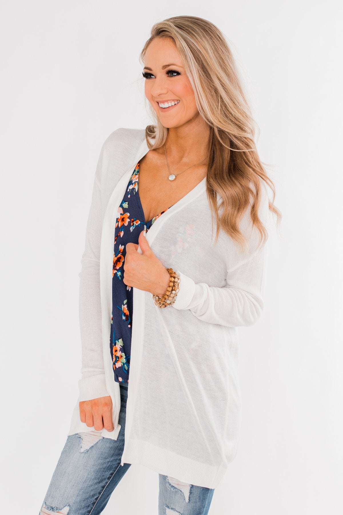 Simply Perfect Cardigan- White