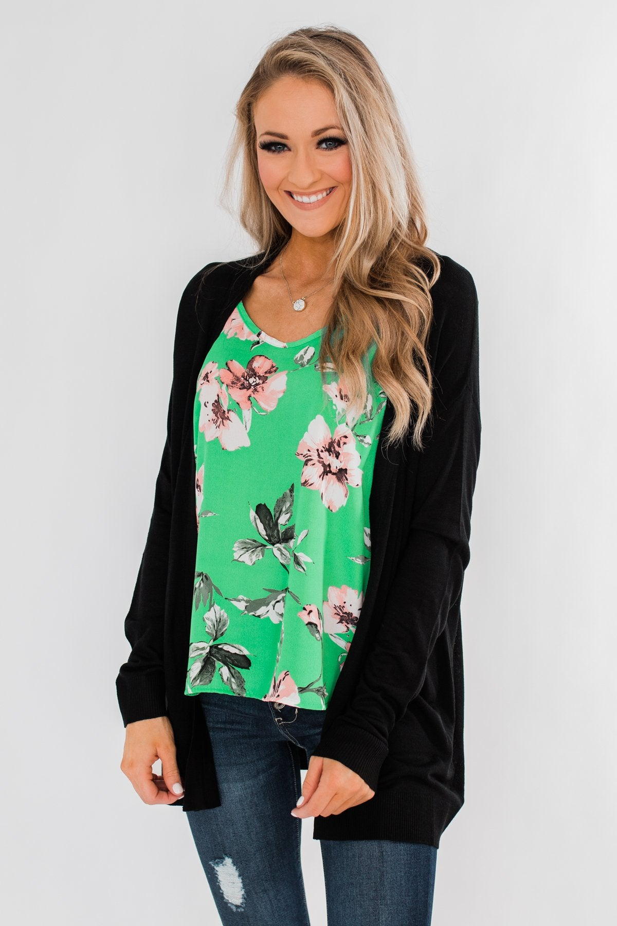Simply Perfect Cardigan- Black