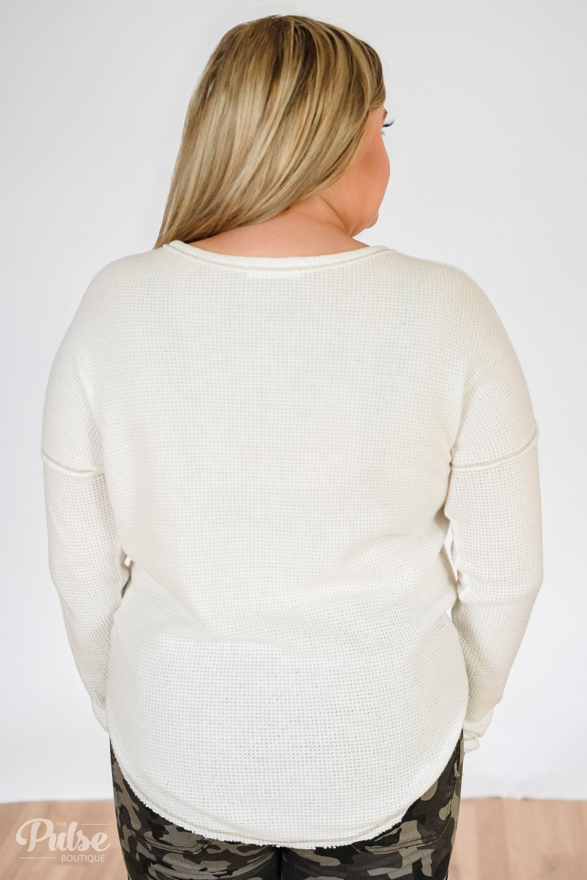 Go-To Henley Thermal Top- Ivory