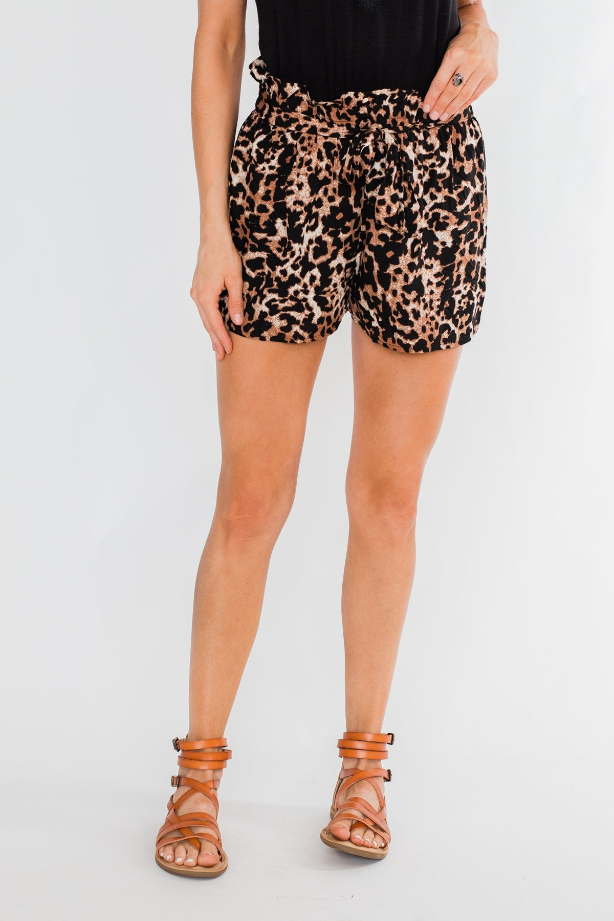 Feeling Wild Fashion Shorts- Leopard