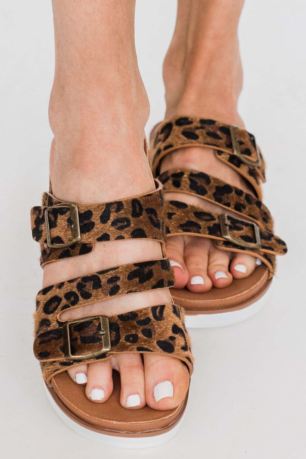 Very G Wild Side Leopard Sandals- Tan