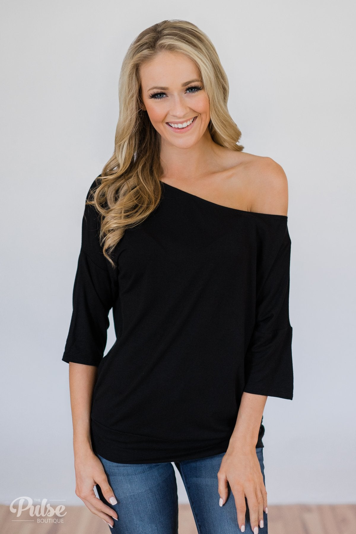 546ae2f735ff Mark My Words One Shoulder Top- Black – The Pulse Boutique