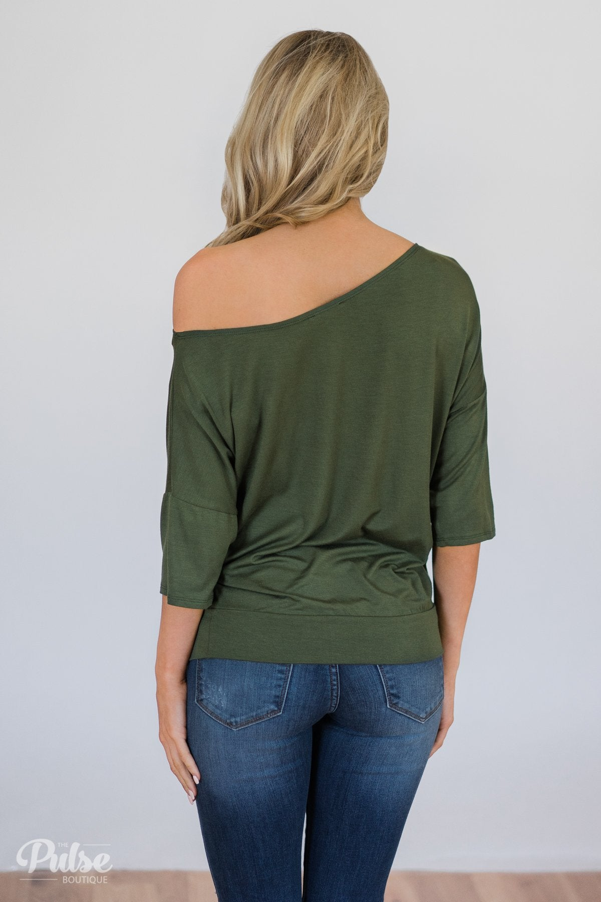 fa05a0f28b08 Mark My Words One Shoulder Top- Hunter Green – The Pulse Boutique