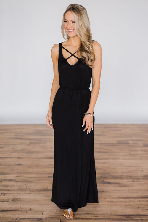 Summer's Must Have Maxi Dress - Black