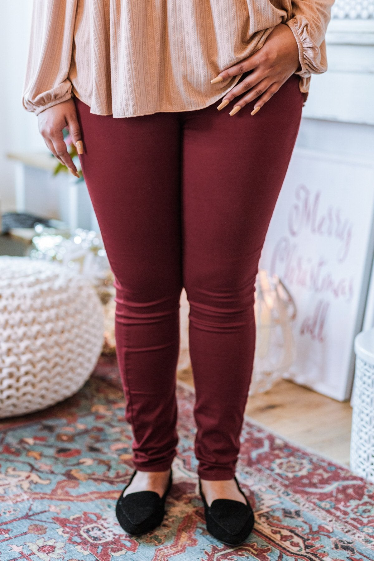 Judy Blue Colored Skinny Jeans- Maroon