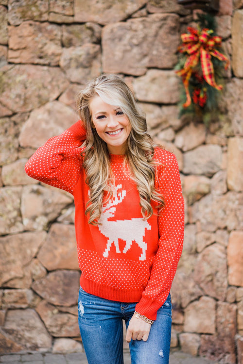 Holly Jolly Sweater ~ Red